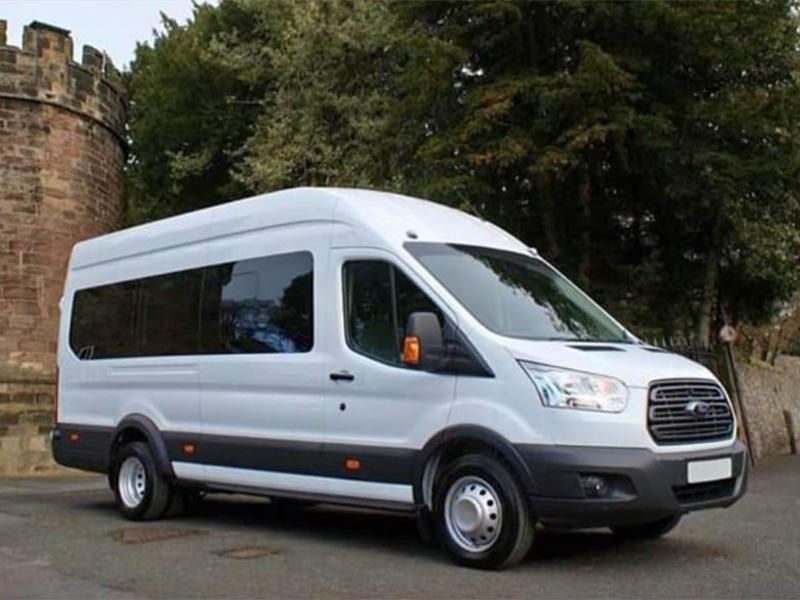 white minibus