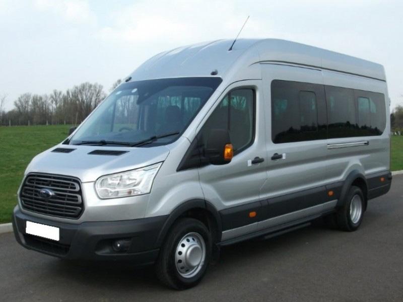 grey minibus